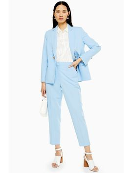 Pale Blue Trousers by Topshop