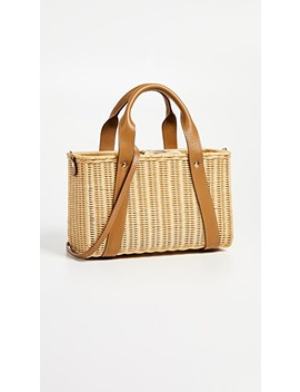 Daisy Wicker Tote Bag by Kayu
