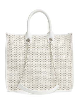 Woven & Pvc Tote by Steve Madden