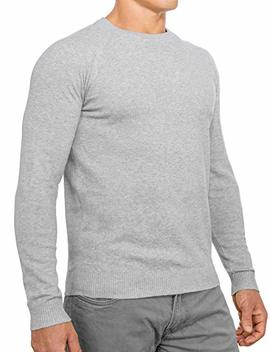 Comfortably Collared Men's Perfect Slim Fit Lightweight Soft Fitted Crew Neck Pullover Sweater by Comfortably Collared