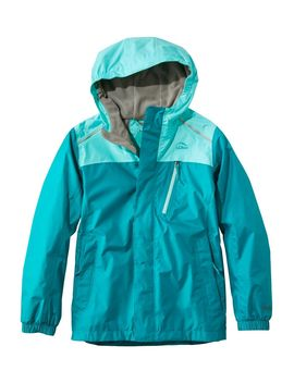 Kids' Trail Model Rain Jacket, Lined, Colorblock by L.L.Bean