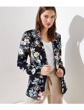 Floral Long Open Blazer by Loft