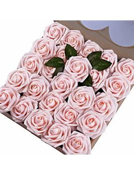 Umiss Roses Artificial Flowers Fake Flowers Wedding Decorations Set 50pcs Artificial Flora Diy Wedding Home Office Party Hotel Restaurant Patio Yard Decoration (Blush) by Umiss