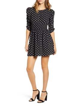 Smock Sleeve Dot Dress by Speechless