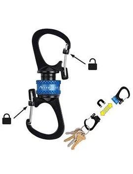 Nite Ize Slidelock 360° Magnetic Locking Dual Carabiner   Blue by Nite Ize