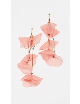 Long Chiffon Flower Earrings by Stella + Ruby