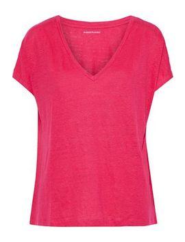 Slub Stretch Linen Jersey T Shirt by Majestic Filatures