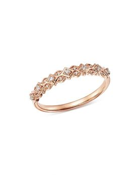 Diamond Geometric Stacking Ring In 14 K Rose Gold, 0.10 Ct. T.W.   100 Percents Exclusive by Bloomingdale's