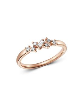 Diamond Geometric Stacking Ring In 14 K Rose Gold, 0.15 Ct. T.W.   100 Percents Exclusive by Bloomingdale's