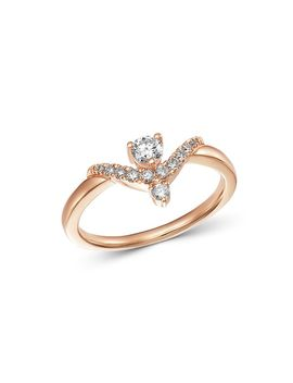 Diamond Chevron Delicate Ring In 14 K Rose Gold, 0.30 Ct. T.W.   100 Percents Exclusive by Bloomingdale's