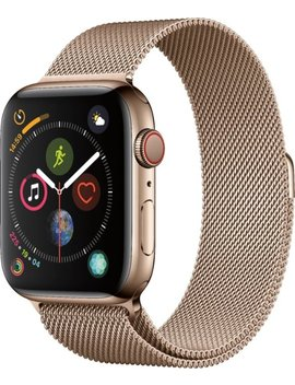Apple Watch Series 4 (Gps + Cellular) 44mm Gold Stainless Steel Case With Gold Milanese Loop   Gold Stainless Steel by Apple