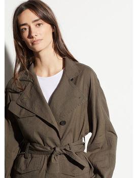 Drapey Linen Jacket by Vince