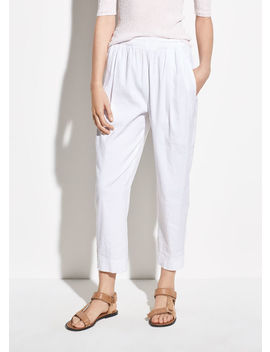 tapered-pull-on-linen-pant by vince