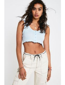Uo Button Through Vest by Urban Outfitters