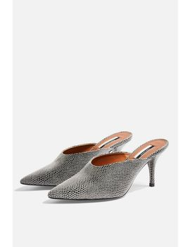 Jackson Monochrome Mid Mules by Topshop