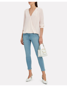 Perry Silk Champagne Blouse by L'agence