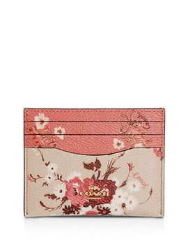 Mixed Floral Print Card Case by Coach