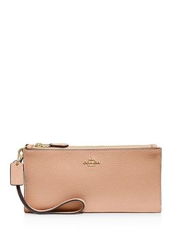 Leather Double Zip Wallet by Coach