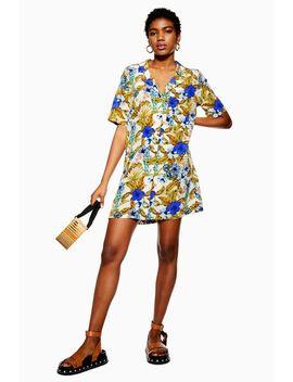 Palm Bowling Shirt Dress by Topshop