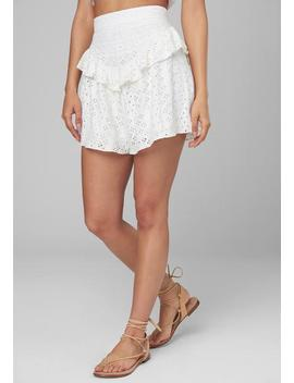 Ruffled Eyelet Shorts by Bebe