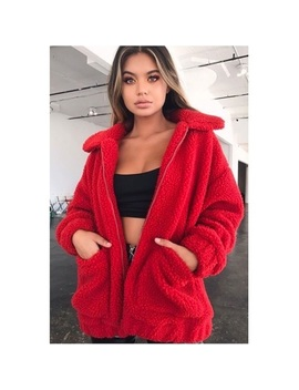 I.Am.Gia Red Teddy Coat by I.Am.Gia