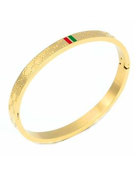Fly.Bucknor Women's Fashion Classic Lovely Brilliance Bracelet   Titanium Steel Red And Green Bracelets 6.7 Inch by Fly.Bucknor