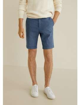 Cotton Linen Chino Style Shorts by Mango
