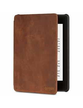 All New Kindle Paperwhite Premium Leather Cover (10th Generation 2018), Rustic by Amazon