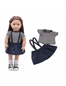 Theshy Doll Clothes Dress Outfit Clothes Set For 18'' American Girl Our Generation Doll Toys Doll Clothes For American Girl Outfits by Theshy Toys