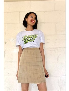 Vintage 90s Checked High Waist Mini Skirt by St Michael