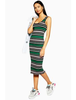 Stripe Midi Bodycon Dress by Topshop
