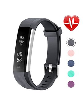 Letsfit Fitness Tracker With Heart Rate Monitor, Slim Activity Tracker Watch, Pedometer, Sleep Monitor, Step Counter, Calorie Counter, Waterproof Smart Band Kids Women Men by Letsfit