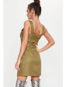 Khaki Strappy Utility Dress by Missguided