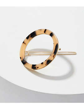 Tortoiseshell Print Ring Hair Clip by Loft
