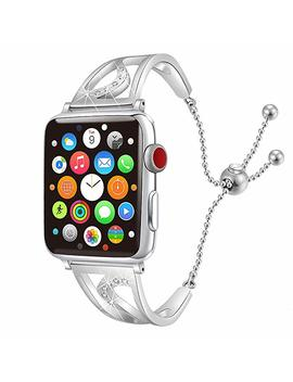 Connics Bling Bands Compatible Apple Watch Iwatch Band Series 4 40mm, Series 3/2 / 1 38mm, Women Diamond Rhinestone Stainless Steel Metal Jewelry Bracelet Bangle Wristband Strap by Connics