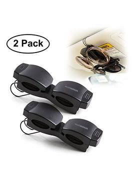 Superior Essentials Locking Double Sunglasses Holder For Sun Visor Securely Holds Glasses & Sunglasses On Sun Visor Set Of 2 by Superior Essentials