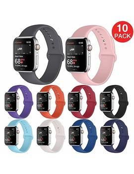 Kaome Compatible With Apple Watch Band 38mm 40mm 44mm 42mm,Soft Strap Sport Band For I Watch Series 4, Series 3, Series 2, And Series 1 by Kaome