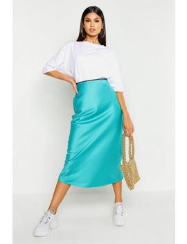 bias-cut-satin-midi-skirt by boohoo