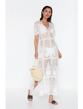 Lacey In Love Maxi Cover Up Dress by Nasty Gal