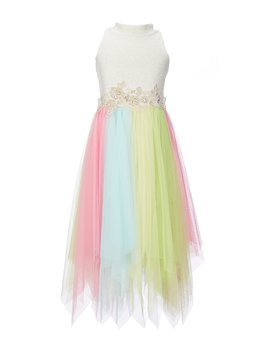 Big Girls 7 16 Sparkle Knit/Mesh Walkthrough Dress by Bonnie Jean
