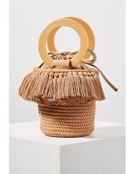 Lara Woven Bucket Bag by Anthropologie