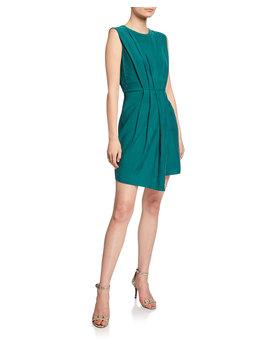 Perdeta Pleated Faux Wrap Dress by Club Monaco