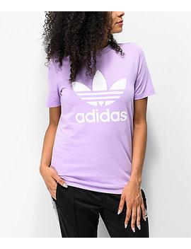 Adidas Trefoil Purple Glow T Shirt by Adidas