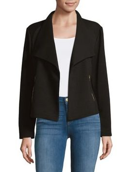 Textured Flyaway Jacket by Calvin Klein