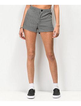 Lunachix Black &Amp; White Gingham Shorts by Lunachix