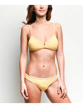 Damsel Banana Flat Ribbed Cheeky Bikini Bottom by Damsel