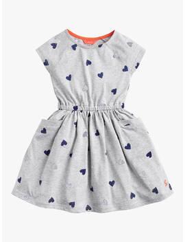 Little Joule Girls' Jude Jersey Dress, Grey Marl by Joules