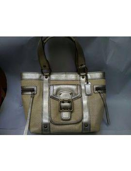 Vintage Coach Straw Light Gold Leather Tote Shoulder Handbag ~ Great Shape!!! by Coach