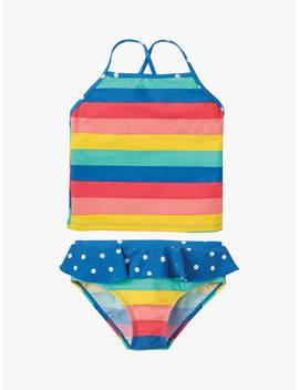 Frugi Children's Trevose Rainbow Stripe Tankini, Multi by Frugi