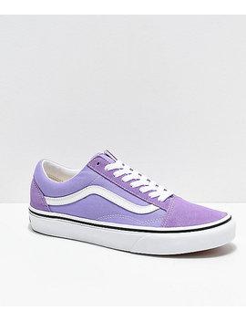 Vans Old Skool Violet & White Skate Shoes by Vans